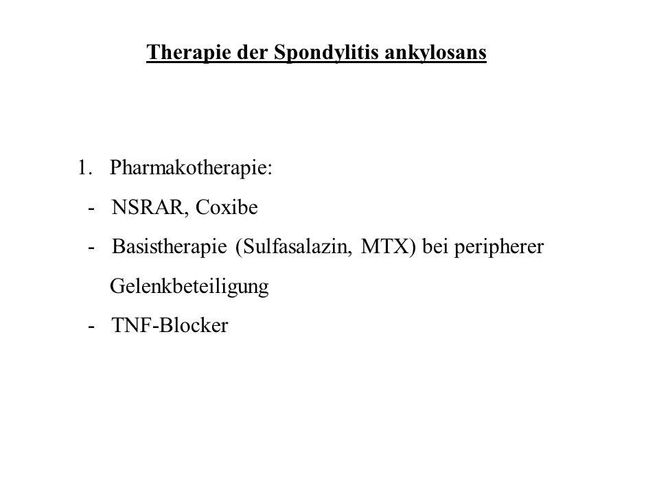 Therapie der Spondylitis ankylosans