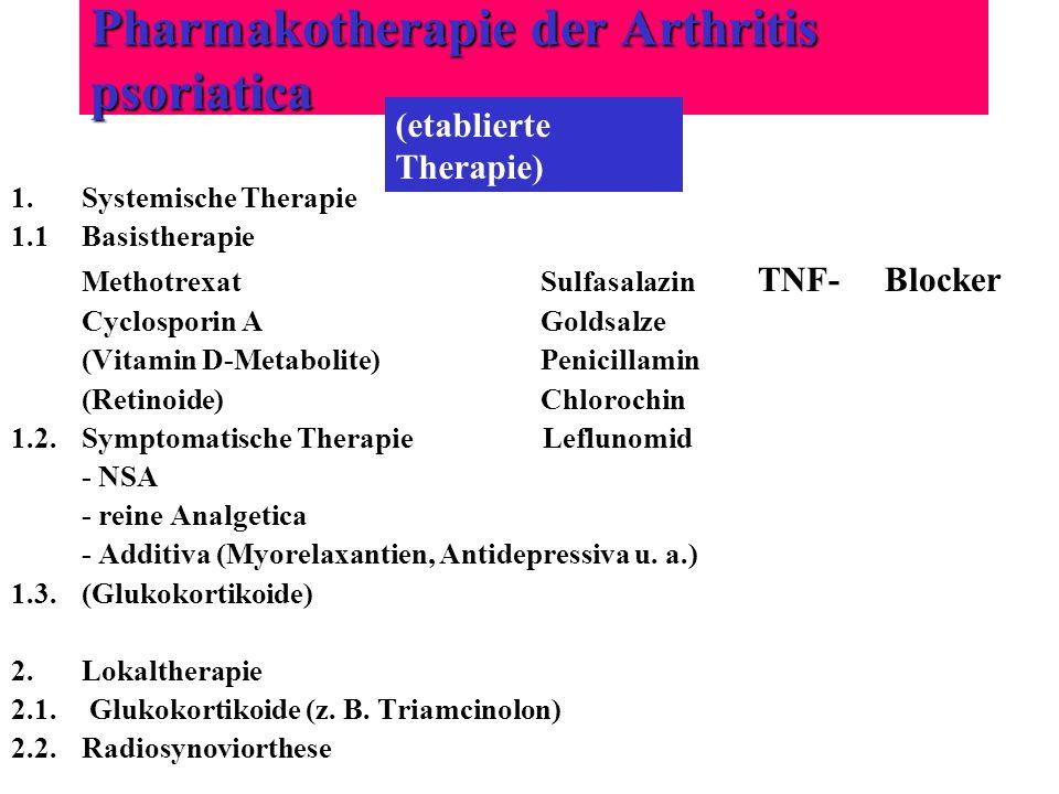 Pharmakotherapie der Arthritis psoriatica