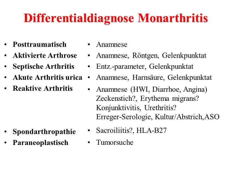Differentialdiagnose Monarthritis