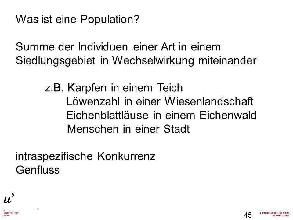 Was ist eine Population