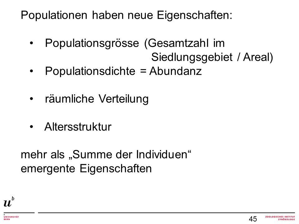 Populationen haben neue Eigenschaften: