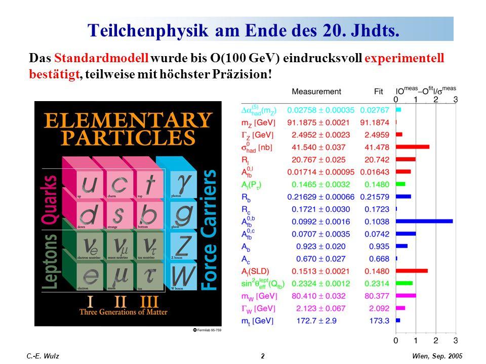 Teilchenphysik am Ende des 20. Jhdts.