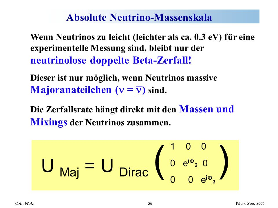 Absolute Neutrino-Massenskala