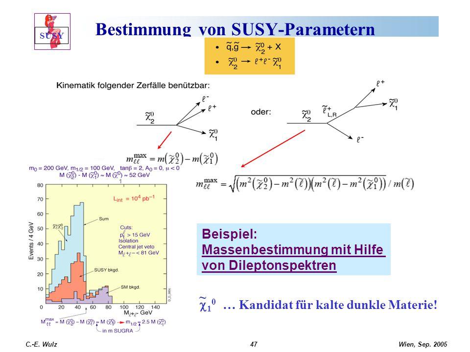 Bestimmung von SUSY-Parametern