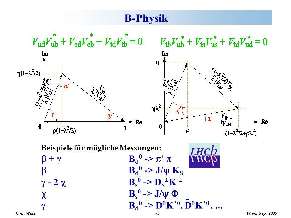 B-Physik b + g Bd0 -> p+ p - b Bd0 -> J/y KS