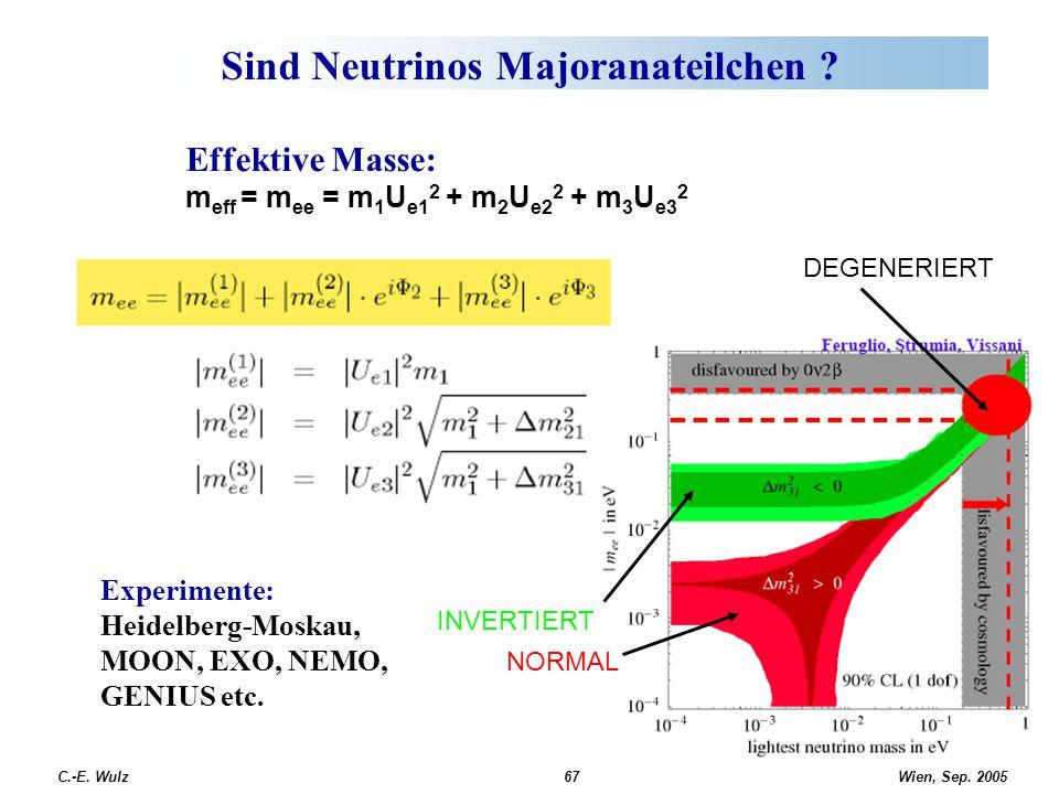Sind Neutrinos Majoranateilchen