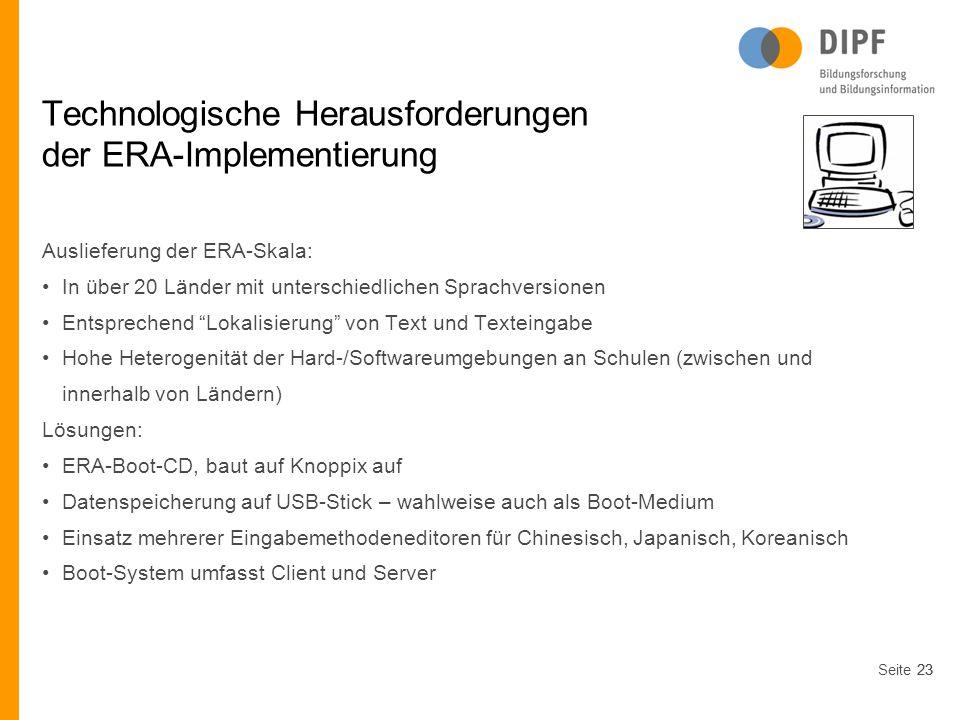 Technologische Herausforderungen der ERA-Implementierung