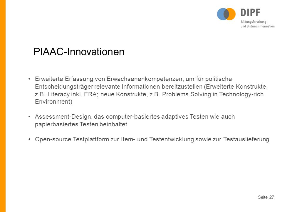 PIAAC-Innovationen