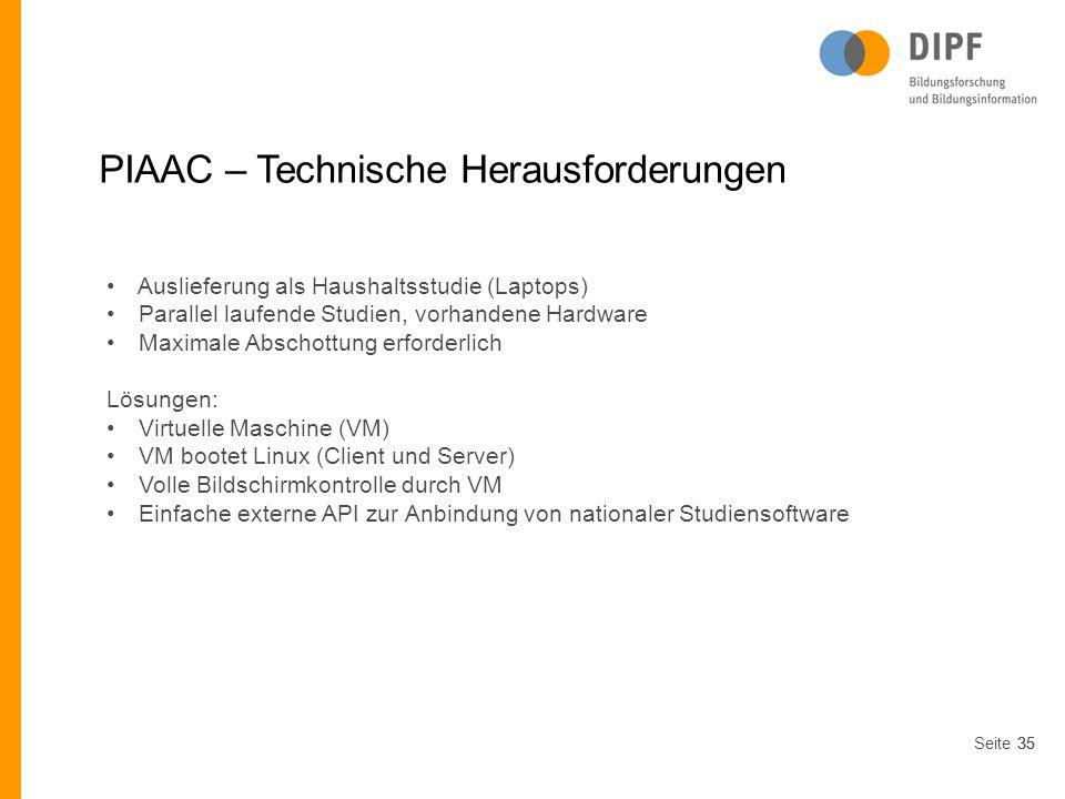 PIAAC – Technische Herausforderungen