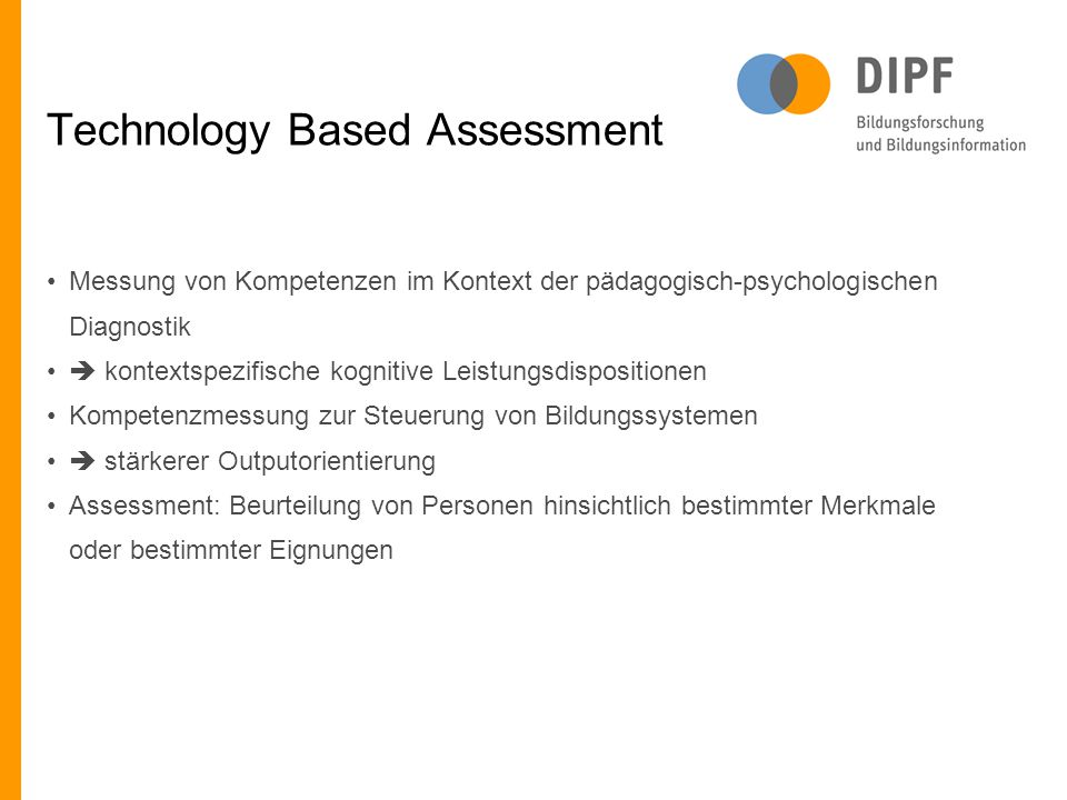 Technology Based Assessment