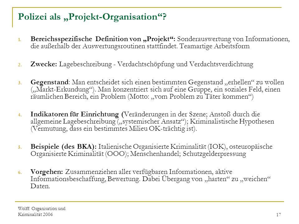 """Polizei als """"Projekt-Organisation"""