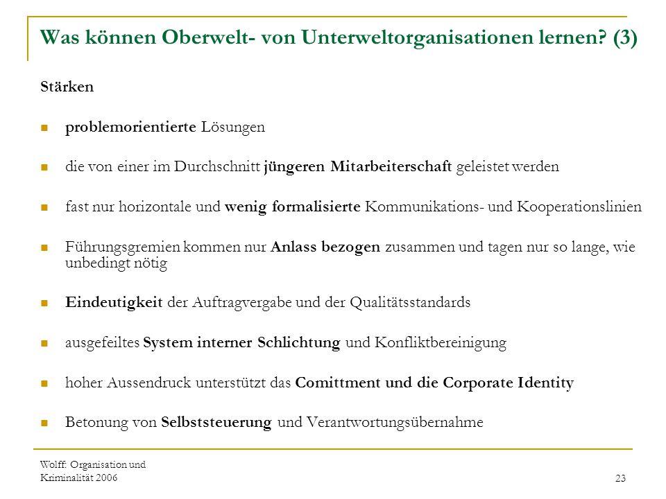 Was können Oberwelt- von Unterweltorganisationen lernen (3)