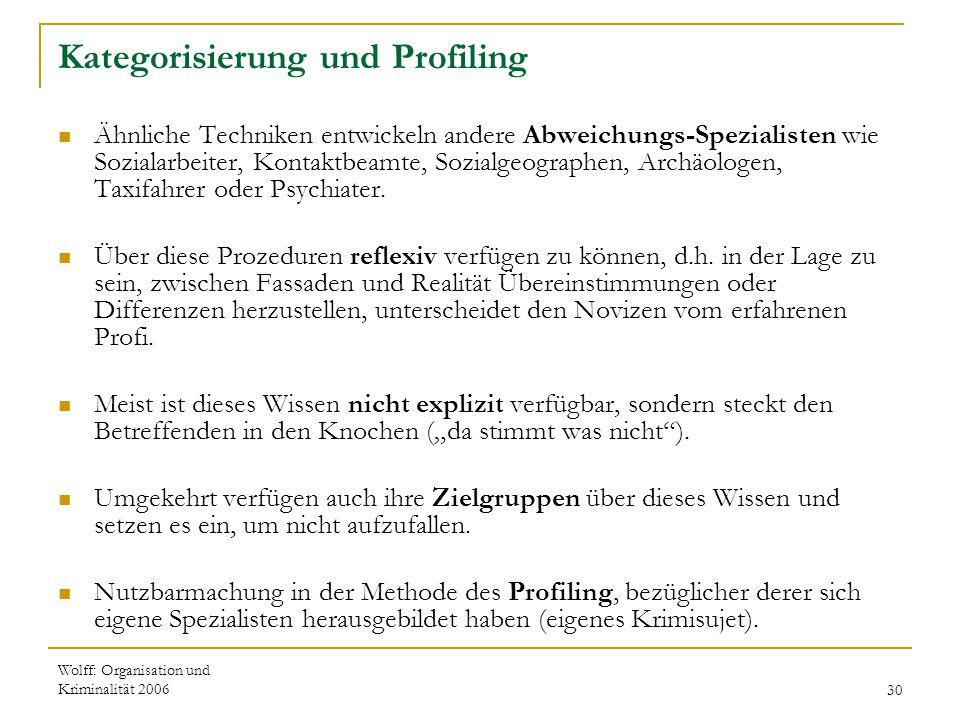Kategorisierung und Profiling