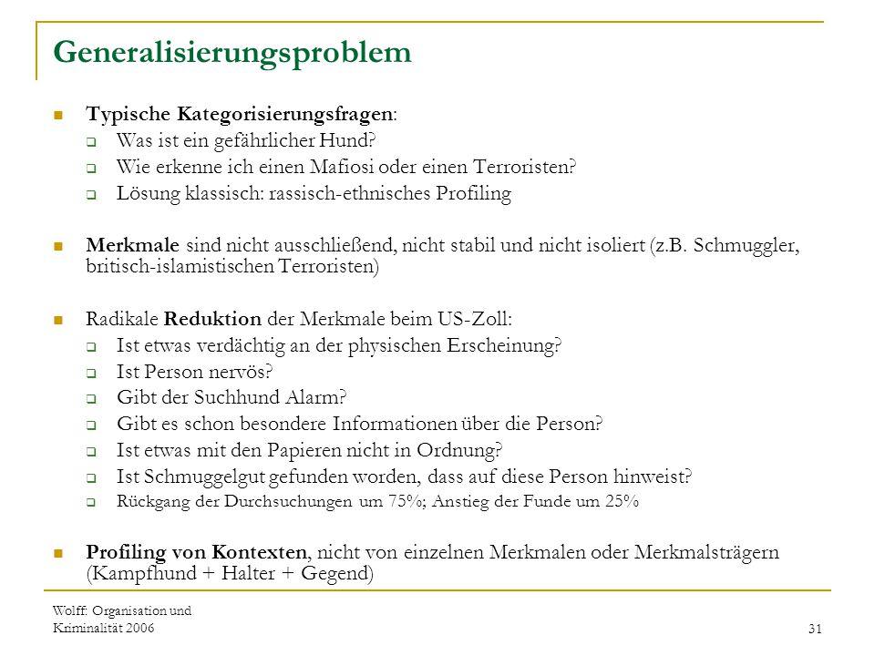 Generalisierungsproblem