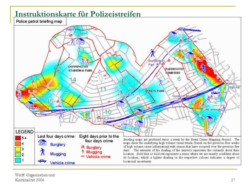 Instruktionskarte für Polizeistreifen