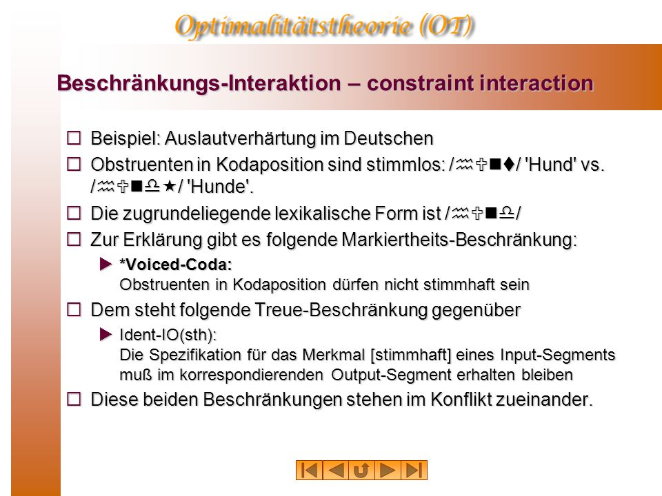 Beschränkungs-Interaktion – constraint interaction