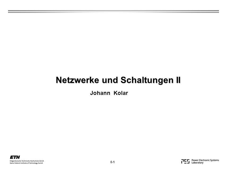 Netzwerke und Schaltungen II