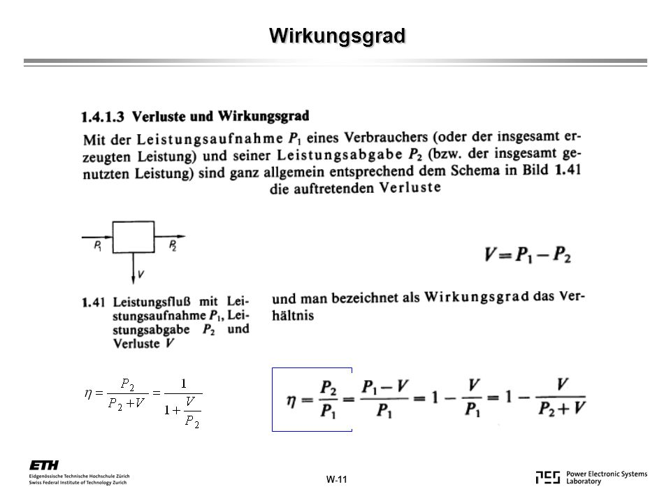 Wirkungsgrad W-11