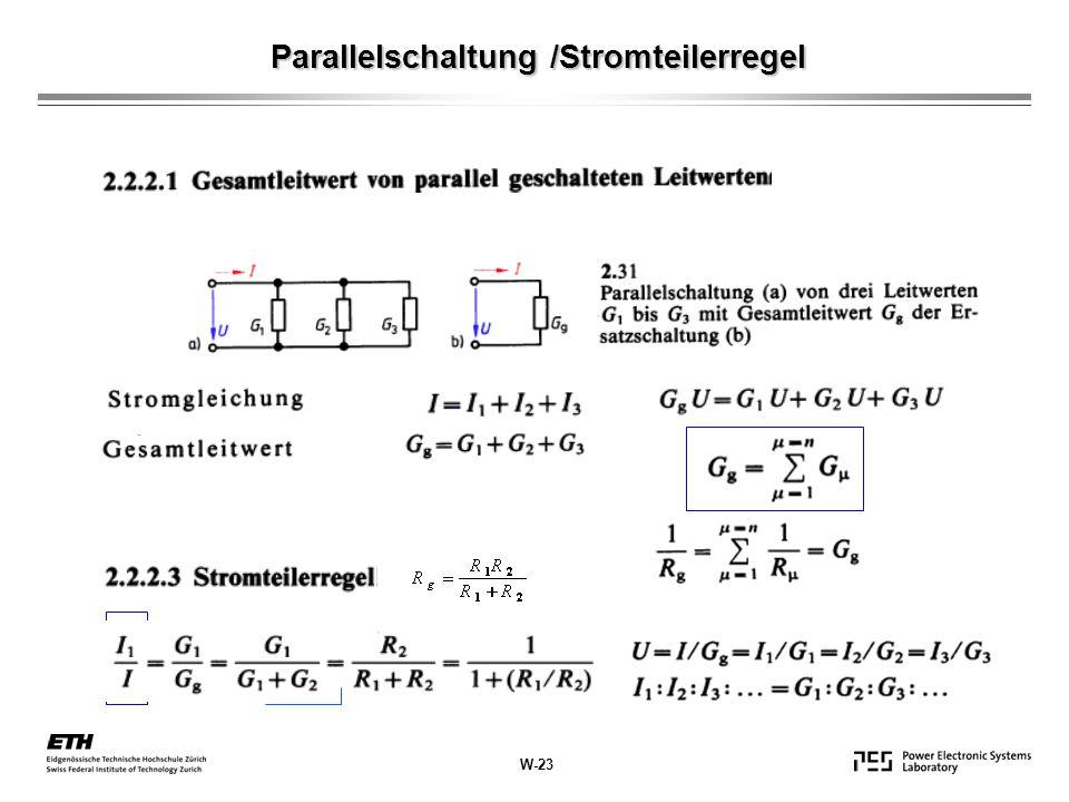 Parallelschaltung /Stromteilerregel