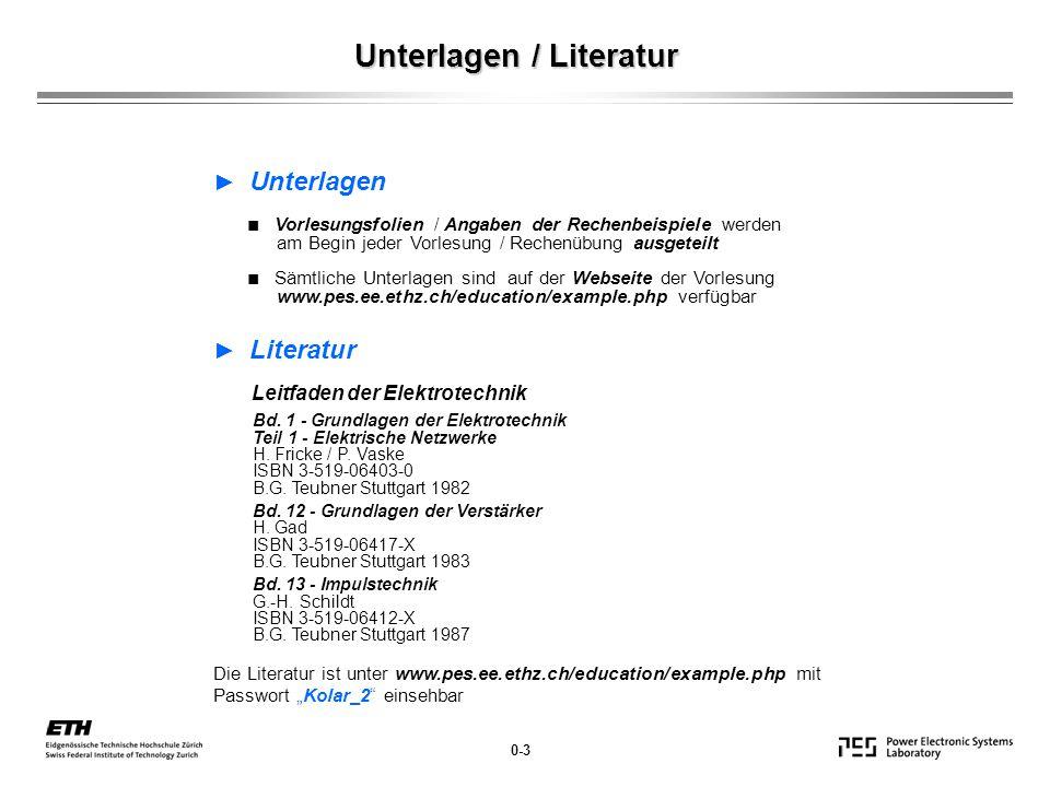 Unterlagen / Literatur