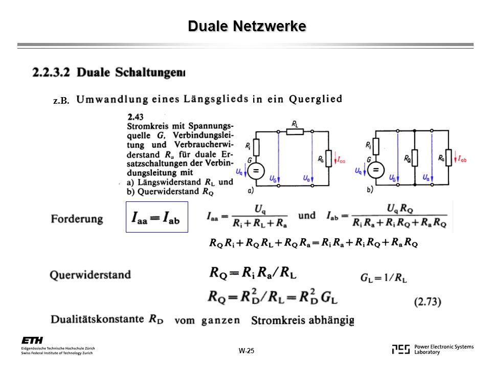 Duale Netzwerke z.B. W-25