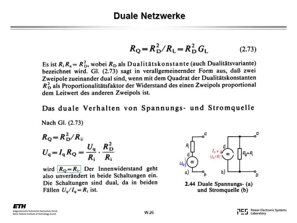 Duale Netzwerke W-26