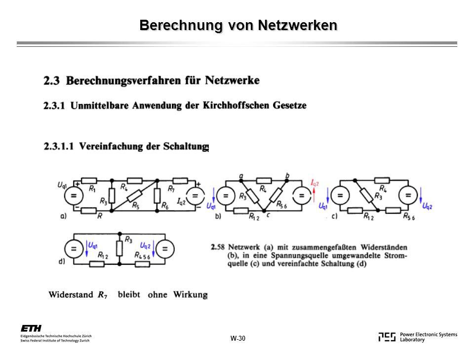 Berechnung von Netzwerken
