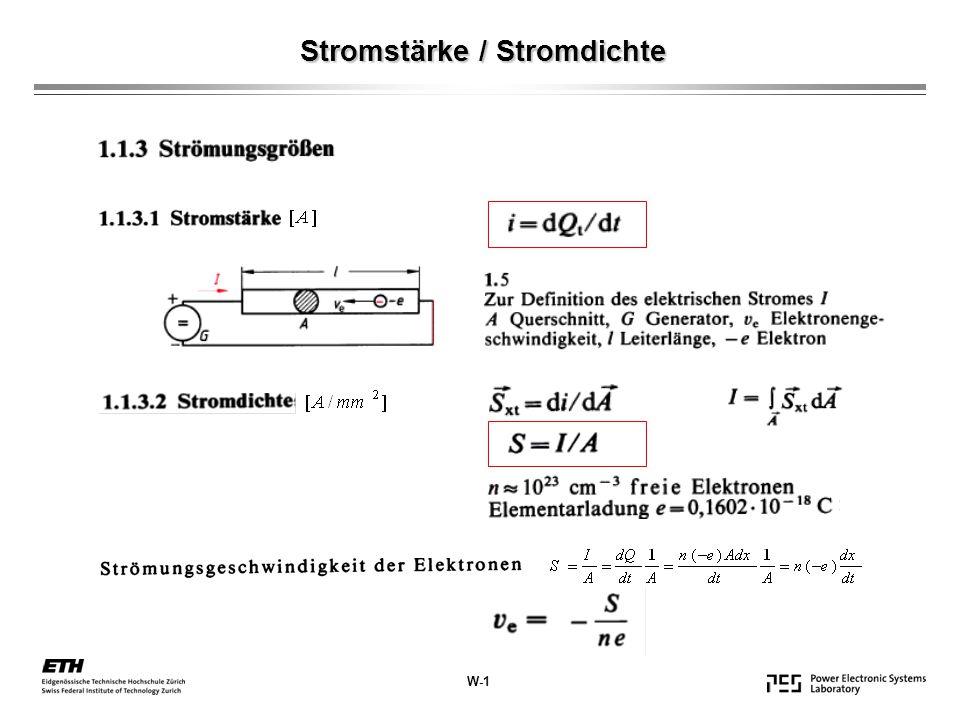 Stromstärke / Stromdichte