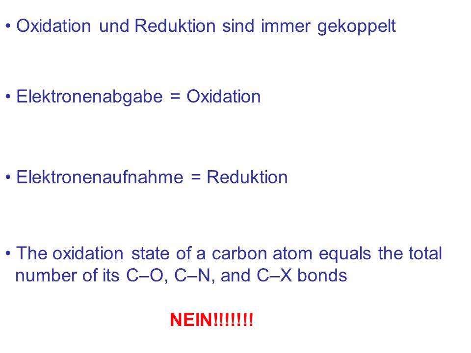 Oxidation und Reduktion sind immer gekoppelt