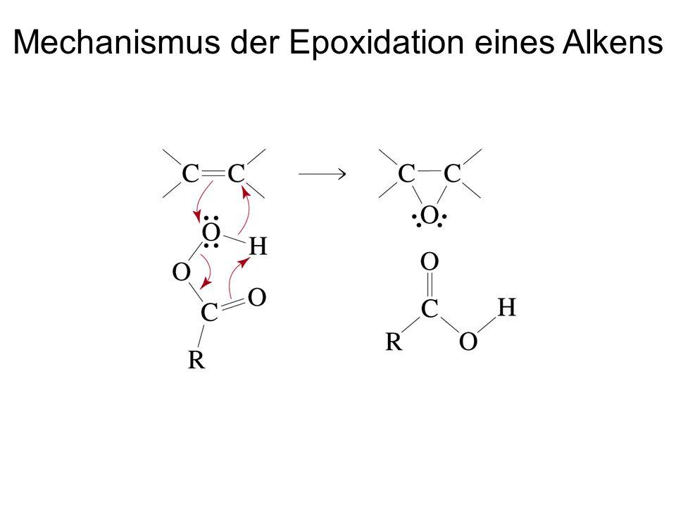 Mechanismus der Epoxidation eines Alkens
