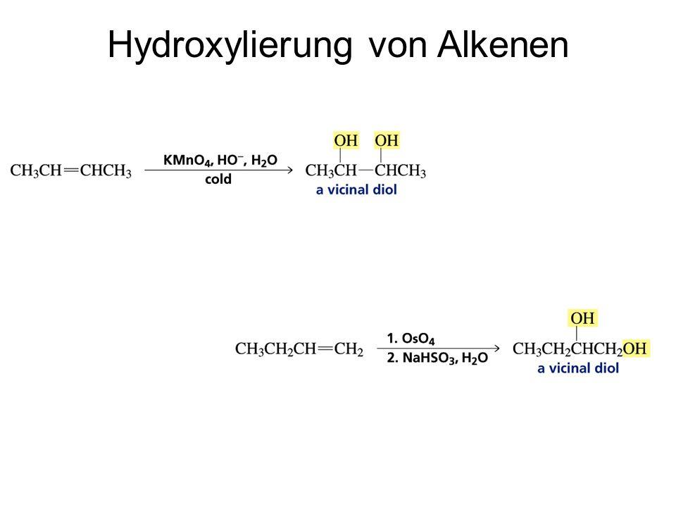 Hydroxylierung von Alkenen