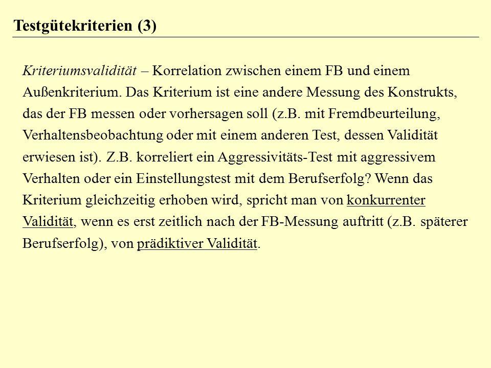 Testgütekriterien (3)