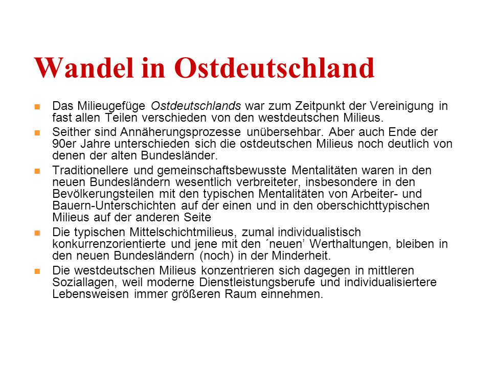 Wandel in Ostdeutschland