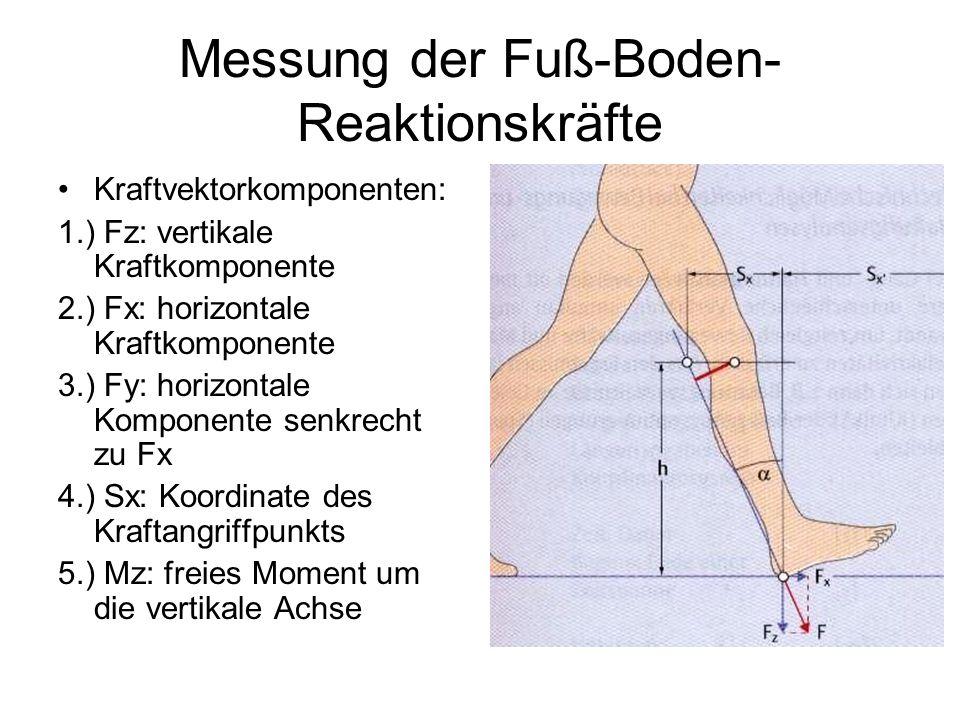 Messung der Fuß-Boden-Reaktionskräfte