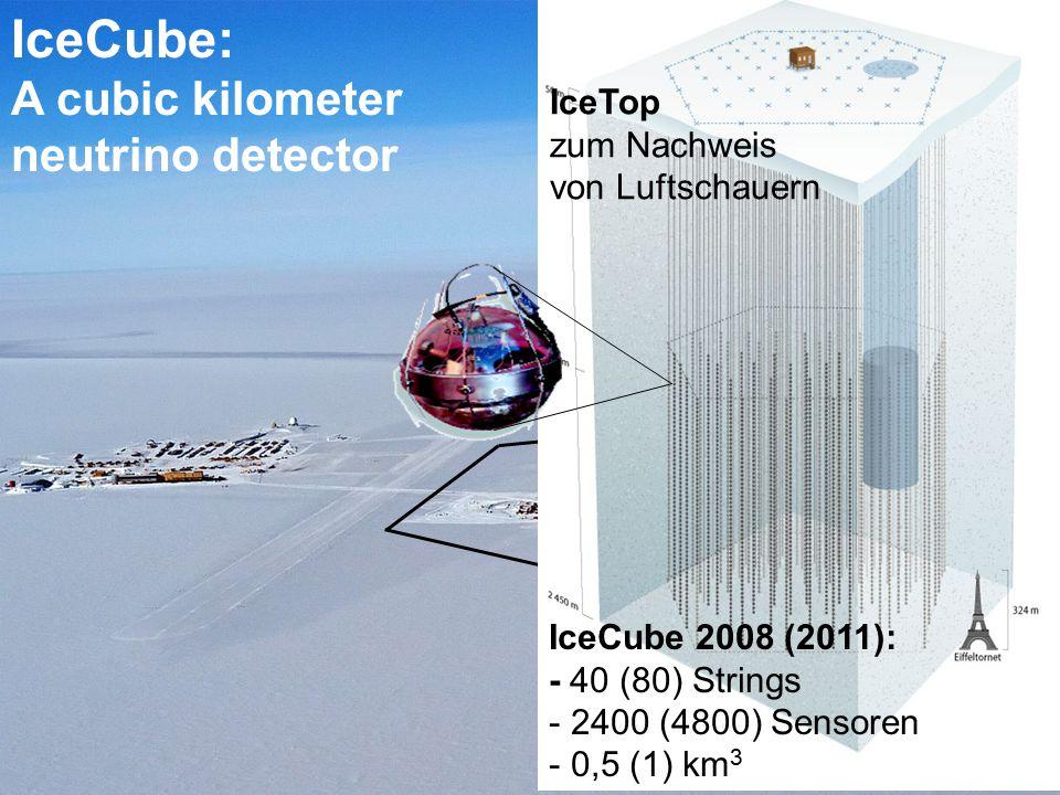 IceCube: A cubic kilometer neutrino detector IceCube IceTop