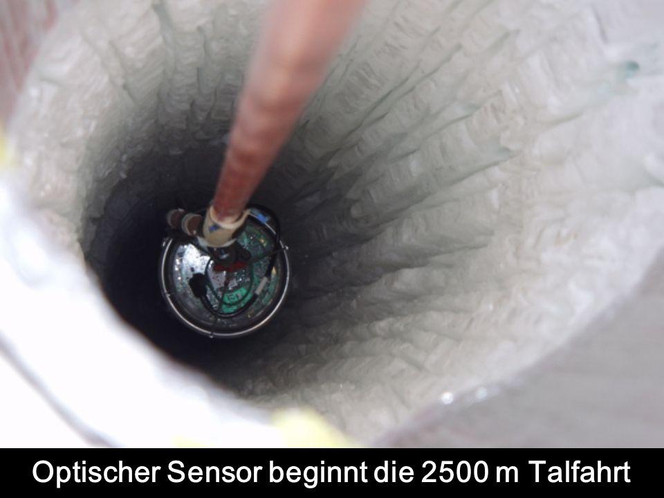 Optischer Sensor beginnt die 2500 m Talfahrt