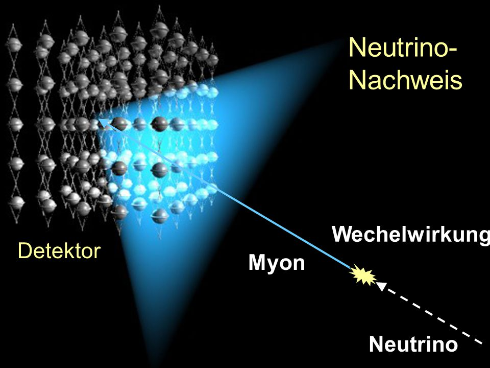 Neutrino- Nachweis Wechelwirkung Detektor Myon Neutrino
