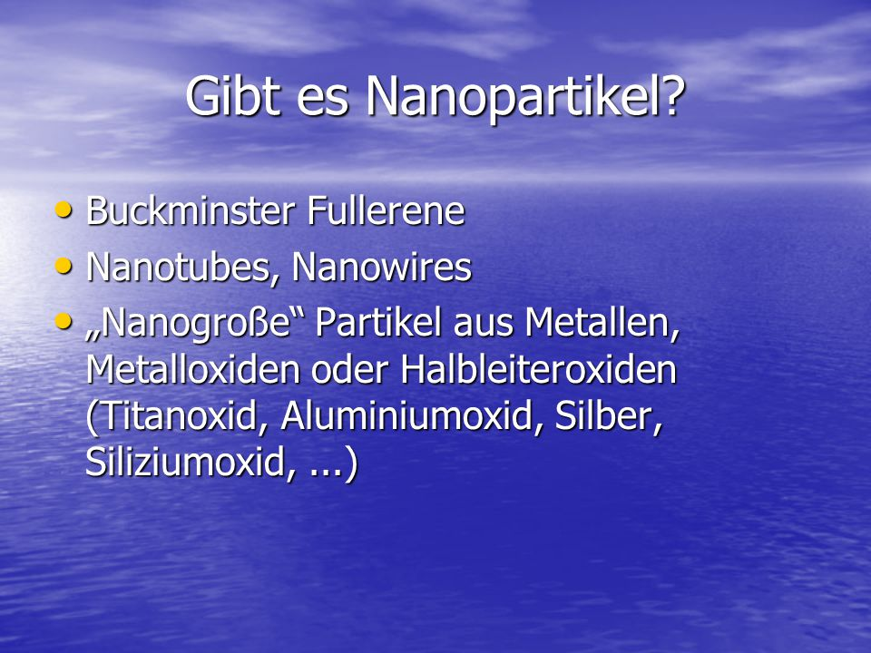 Gibt es Nanopartikel Buckminster Fullerene Nanotubes, Nanowires