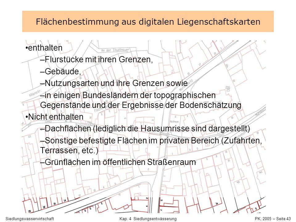Flächenbestimmung aus digitalen Liegenschaftskarten