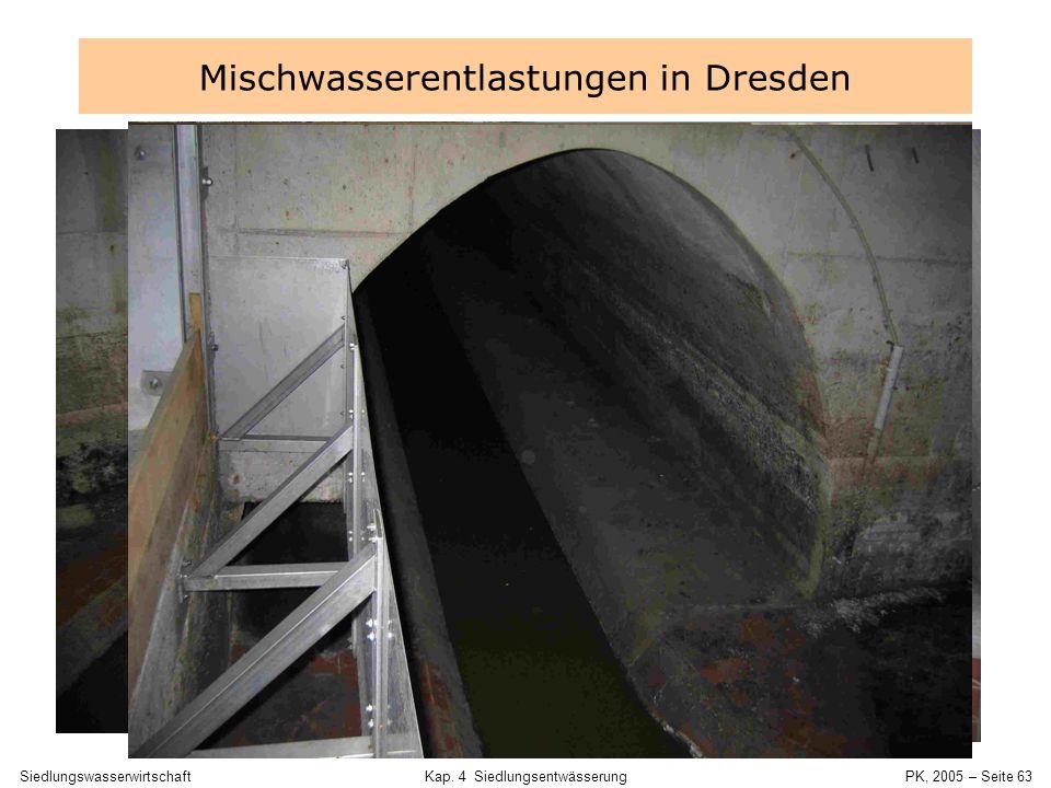 Mischwasserentlastungen in Dresden