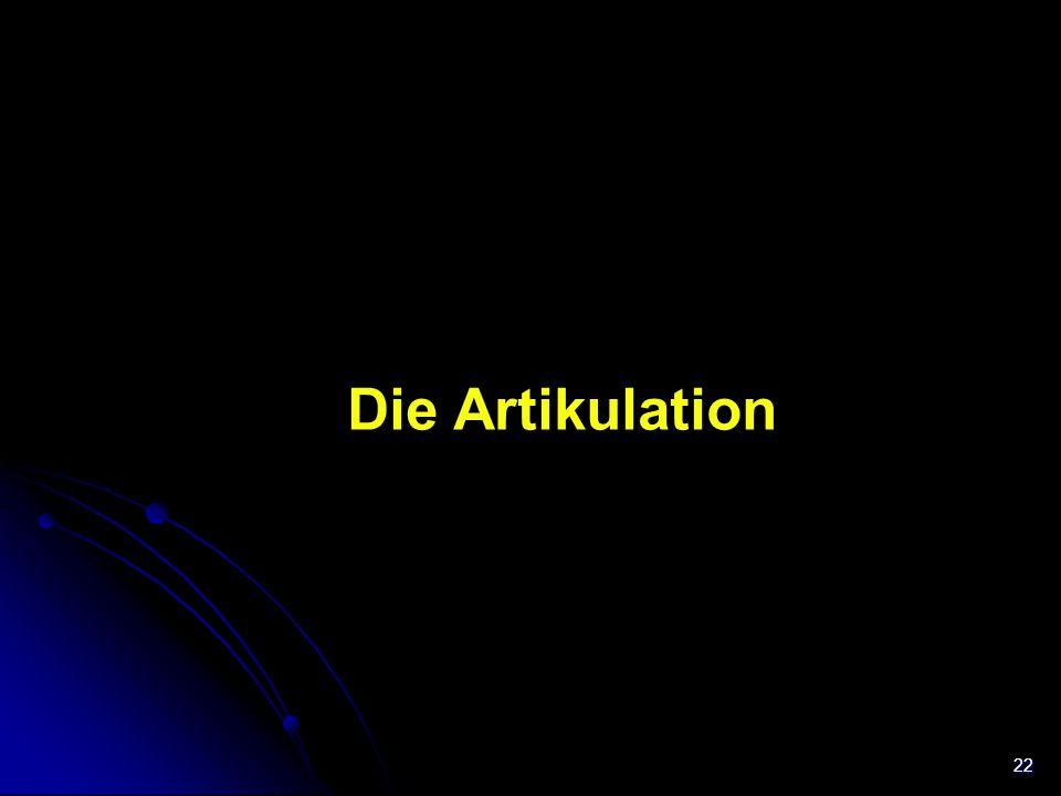Trachea Die Artikulation