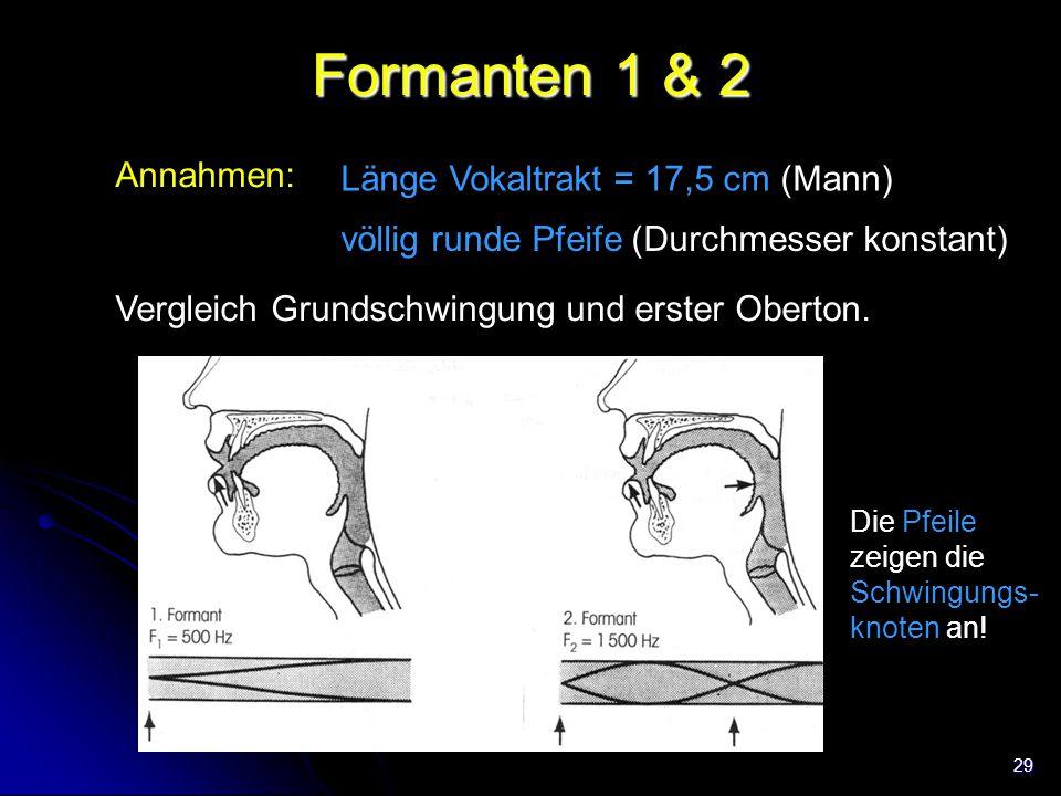 (2n+1)c Formanten 1 & 2 ν = 4L Annahmen: