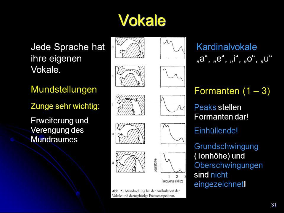 Vokale Jede Sprache hat ihre eigenen Vokale.