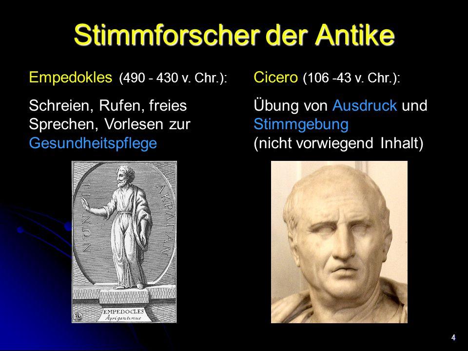 Stimmforscher der Antike