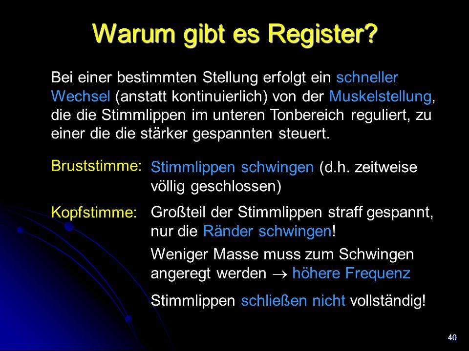 Warum gibt es Register