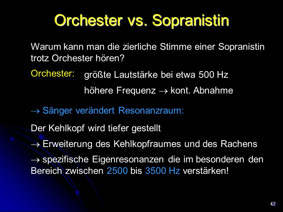 Orchester vs. Sopranistin