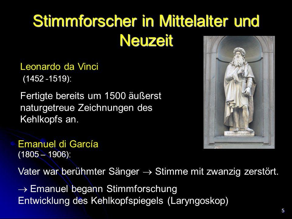 Stimmforscher in Mittelalter und Neuzeit