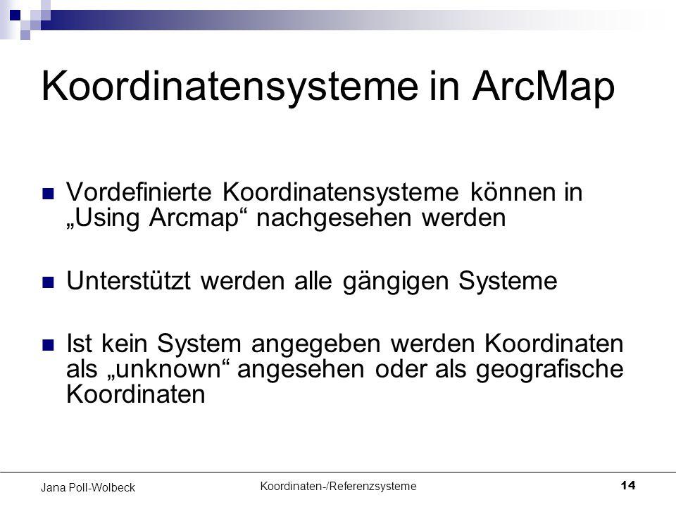 Koordinatensysteme in ArcMap
