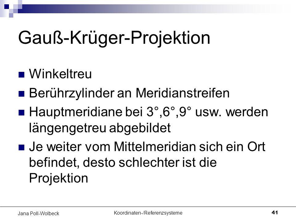 Gauß-Krüger-Projektion