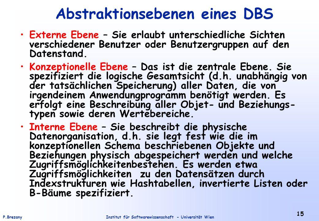 Abstraktionsebenen eines DBS